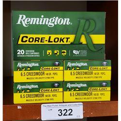 5 Boxes New Remington Core Lokt 20 Centrefire Rifle Cartidges 6.5