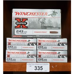 5 Boxes New 243 Win 100Grain Powerpoint