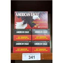 357 Magnum 5 New Boxes American Eagle Pistol Cartridges