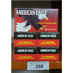 5 New Boxes American Eagle Pistol Cartridges