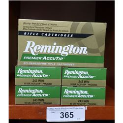 Remington 5 New Boxes 243 Win 95Grain Accutip