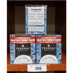 5 New Boxes Federal 22 Long Rifle 525 Rounds Per Box