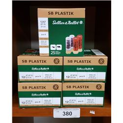 "S-B Plastik 5 New Boxes 12/2 5/8"" Shells"