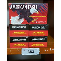 American Eagle 5 New In Boxes Pistol Cartridges 357 Magnum