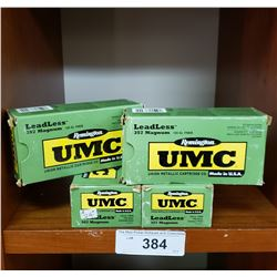 4 New Boxes Umc 357 Magnum Centrefire Cartridges