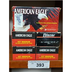 5 New In Box 357 Magnum American Eagle Pistol Cartridges