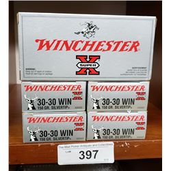5 Boxes Of New 30-30 Winchester 150Grain Silvertip