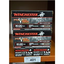 4 New Boxes Winchester 30-30 170 Grain By Power Max