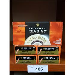 5 New Boxes Of Federal Premium Centrefire Rifle Cartridges