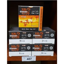 5 Boxes Of New 12 Gauge Steel Shot By Clever 2 3/4