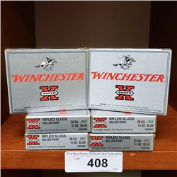 6 New Boxes Of 20 Gauge Winchester Slugs 2/3/4