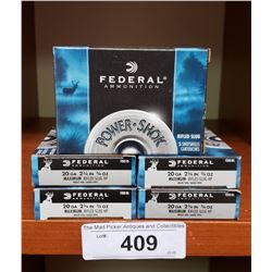 5 New Boxes Federal 20 Gauge 2 3/4 Rifled Slugs