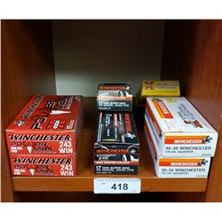 2 New In Box Winchester Superx Rifle Centerfire Cartridges, 2 New In Box Winchester Rimfire Calibre,