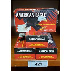 4 New In Box American Eagle 357 Magnum Pistol Cartridge