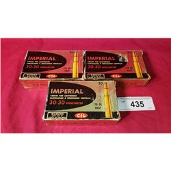 3 Boxes Of New Imperial 30-30 Winchester Shells