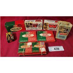 2 Boxes S&W Reloads, Box 380 S&W Reloads, 5 Boxes,Primers, Small Box 30-30, 15 Box 22 Shorts