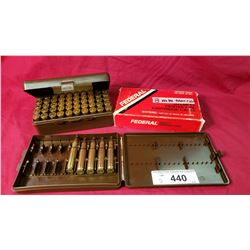 2 1/2 Containers Of 280 Shells Reloads, Box 44 Super Remington Mag Reload, Box 8Mm Mauser Reload, 5