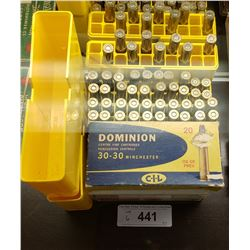 2 Boxes Of Big Bore 94 375 Winchester New, Plus Box 30-30 Winchester