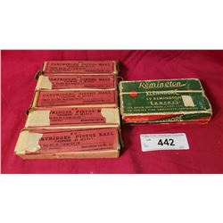 Cartridges, Pistol Ball Frankford, Arsenal 5 Boxes 1911 Plus Remington Box 32 Express Center Fire