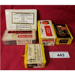 3 Boxes Of Lead Bullets Partial Box 30 Calibre 308, Plus A Full Case Of Cc1 Speer 38 Special