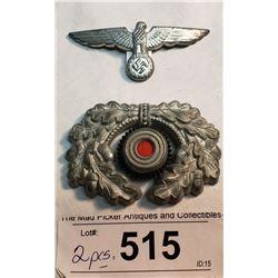 Officers 2 Piece Cap Badge Ww2