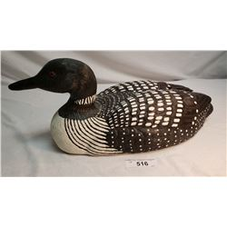 Large Hand Carved Loon Decoy