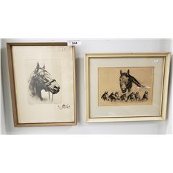Pair Of Signed Kentucky Derby Horse Print