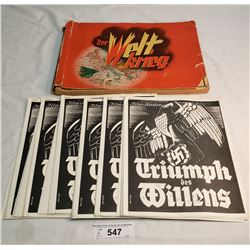Ww1 Collector Book With Stick In War Photos Plus Several German Film Magazines Done In Vancouver