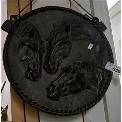 """Large Cast Horse Plague Vintage 14"""""""
