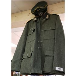 German Army Outfit With Pants And Hat
