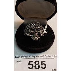 Large Decorative Skull Ring