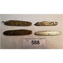 A Lot Of 4 Decorative Vintage Knives