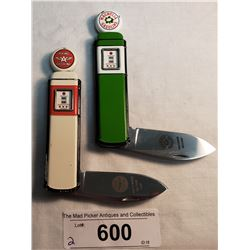 Pair Of Gasoline Collector Gas Pump Knives