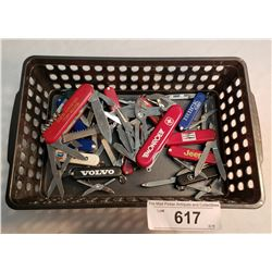 Box Lot Of Victorian Key Chain Knives