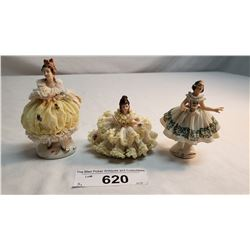 3 Miniature Dresdens
