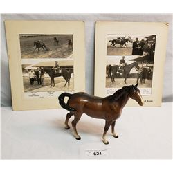 Beswick Horse Plus 2 Photos