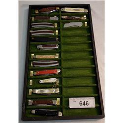 16 Pocket Knives Vintage