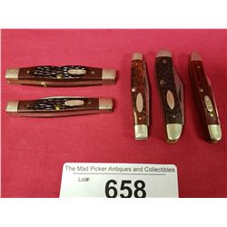 Group Of 5 New Vintage Case Pocket Knives
