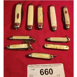 Group Of 10 Vintage Pocket Knives