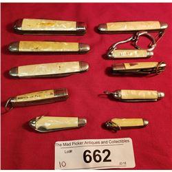 10 Assorted Vintage Pocket Knives