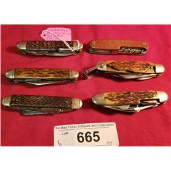 6 Large Pocket Knives