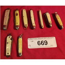Lot Of 9 Miniature Knives