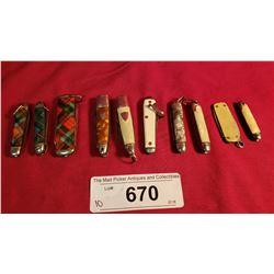 10 Miniature Vintage Knives