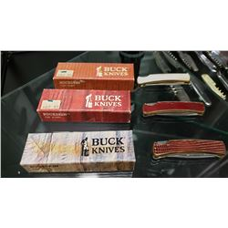 3 New Old Stock Buck Knives In Box