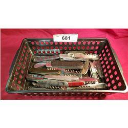 Tray Lot Of 21 Corkscrew Knives