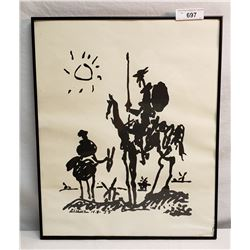Signed Picasso Print Dated 1955