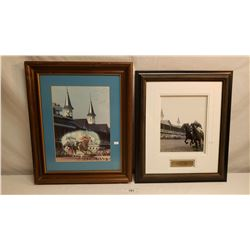 2 Framed Pictures Of Kentucky Derby