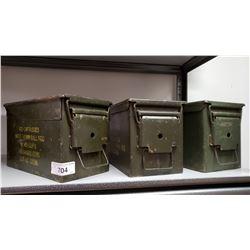 3 Ww2 Cartridge Boxes
