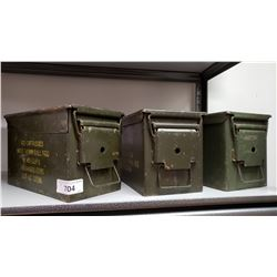 3 Ww2 Cartridge Boxes