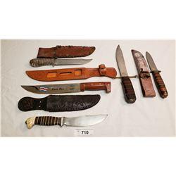 Five Assorted Vintage Knives